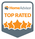 HomeAdvisor Top Rated Contractor Badge Graphic